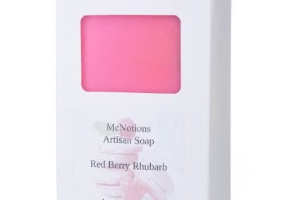 pink soap product photography on white background