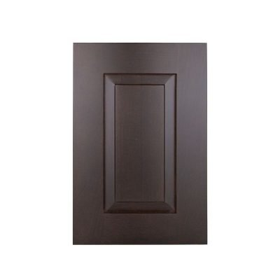 brown cabinet door product photography